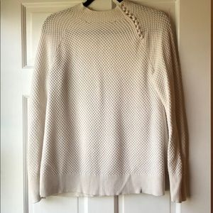 Women's - Loft - size m - cream sweater
